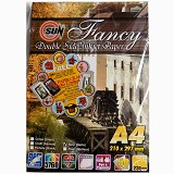 SUN Fancy Inkjet Paper Double Side 235 Gsm - Strip [Garis] - Kertas Foto / Photo Paper